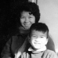 Tuan Nguyen with his mother, Warsaw, ca. 1965