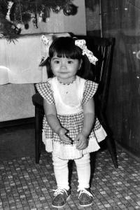 His daughter Diana in 1980