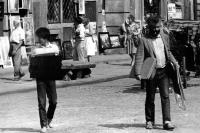 Tuan Nguyen in a street in Warsaw in 1983