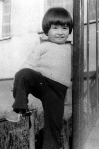 His daughter Diana in 1982