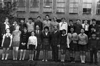 In Soviet elementary school in Warsaw, Tuan Nguyen is the first raw, first from the right