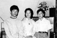 From the left: Tuan Nguyen with his mother and brother, Warsaw, the beginning of the 1970s
