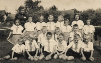 In 1954, as a dancer of the Male Zdence school, the first row