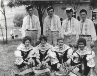 In 1961, in the dance group, Václav Herout is the first one from the right