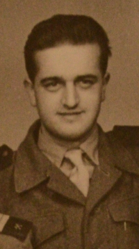 Josef Zíka in 1950s as a member of the Auxiliary Technical Battalions