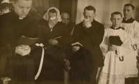 Prime divine service June 4, 1944, saying goodbye to the parents