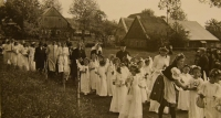 Prime divine service June 4, 1944, the parade from a birth house