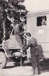 Radio vehicle Jaselská barracks in 1958