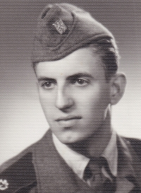 Václav Hora during his military service, 1958-1959