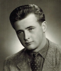 Josef Horký shortly after reaching the age of majority in 1957