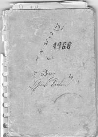 Cover of the journal Miloš kept in Britain, 1966