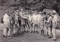 Miloš at a Pioneers camp in Česká Kamenice, 1958