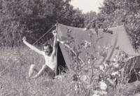 Miloš on his first trip abroad, Hungary 1966