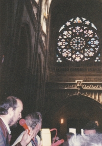 Miloš as a tour guide in the Czech Republic, circa 2003