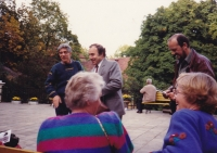 Event on the life of W. A. Mozart, Tomislav Volek is second from the left, Bertramka