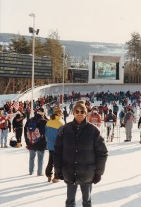 Miloš at the Winter Olympic Games in Lillehammer, Norway