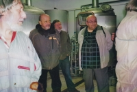 Miloš on an excursion in the brewery in Mutějovice, 2011