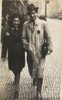 Young father Tomáš Kosta with his girlfriend before deportation