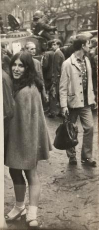 Pavla Alter a few days after 21 August, 1968 in Prague