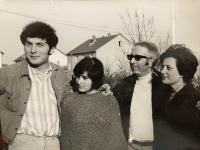 The Kosta family  in Germany, 1972