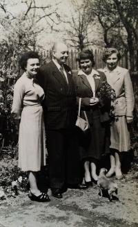 Jarmila Dvořáková, nee Roubínková - The Roubínek family in the 1970s