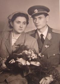 Wedding photograph of Rostislav Zapletal and his wife