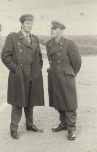 On the left: Ladislav Jakub in 1970