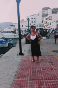 Evening in the port town of Pigadia, Greece.