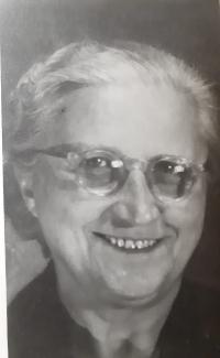 Antonie Maláčová, a portrait photo of the witness's mother, circa 1958