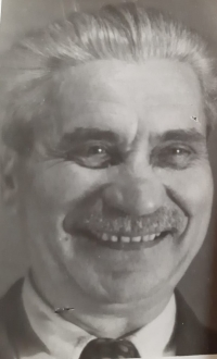 Gustav Josef Maláč, a portrait photo of the witness's father, circa 1958