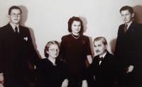 A family photo of the Maláč family, Vlastislav on the right, 1942