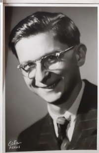A portait photo of Vlastislav Maláč, Prague circa 1953