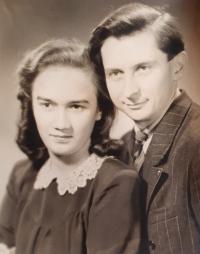 Jiřina Tschepová and Vlastislav Maláč, Prague circa 1947