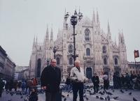 Vlastislav in front of the Milano Cathedral, December 1996