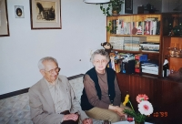 With his sister-in-law Marian in Prague 1999