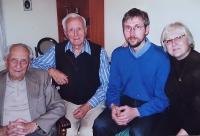 Vlastislav Maláč (on the left) at home with his family, Prague 2010