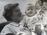 Žofie Zlámalová with her daughter Jana, 1963