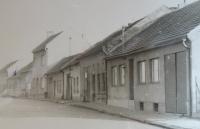 Witness´s birth house in Hložkova Street in Otrokovice, marked by the arrow
