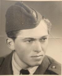 Pavel Ako, husband of Helena Akova, as a soldier