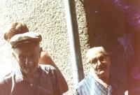 Maternal grandparents, Fiľakovo, about 1983