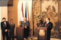 As an interpreter at the meeting of Václav Havel and Árpád Göncz, around 1999