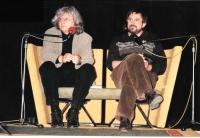 At the Writers' Festival with Péter Esterházy, Prague 1999
