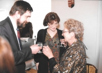 With his wife and Kateřina Pošová (on the right) at the Embassy of Hungary, Prague 2004