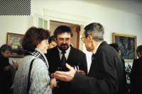 At the Embassy of Hungary with his wife and Prof. Petr Rákos, Prague, October 2000