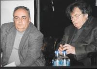 "Robert Svoboda and György Konrád at the cultural event of the Czech Centre ""My City"", Budapest 2009"