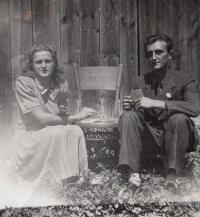 Parents Tereza and Jenö Gál, Fiľakovo, about 1954