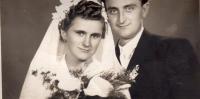 Parents´ wedding photo , Fiľakovo 1953