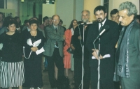 With Minister of Culture Pavel Dostál and photographer Jindřich Štreit at the opening of his exhibition, Budapest 2004