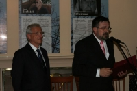 With Hungarian President László Sólyom on the occasion of the 40th anniversary of the Prague Spring Festival at the Embassy of the Czech Republic, Budapest 2008