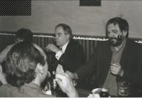 With György Schöpflin, Professor at the London School of Economics and Prague CEU, Prague, about 1994